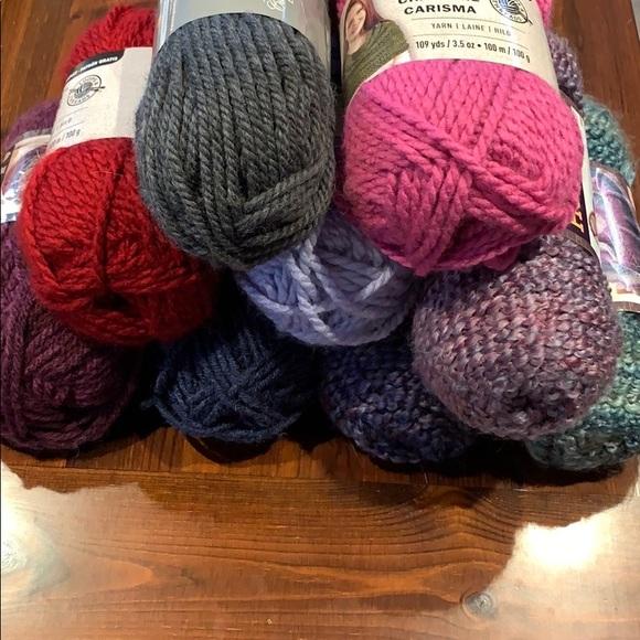 Huge Lot Bundle of Yarn Bulky Size 5